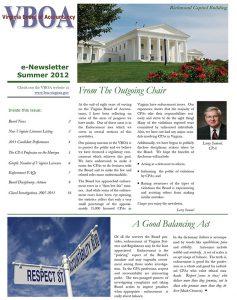 Newsletter Summer 2012