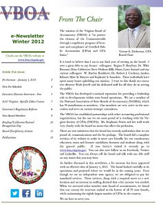 Newsletter Winter 2012